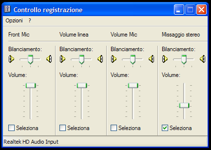 Registrazione Suoni - Windows XP