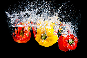 Splash Colors #2 - Peppers