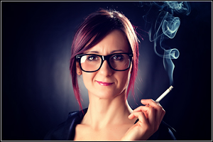 Francy - Smoking Secretary - Girl Portrait