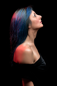 Francy - Blue Hair - Girl Portrait