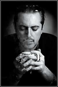 Robby - Coffee Break - Male Portrait Black and White